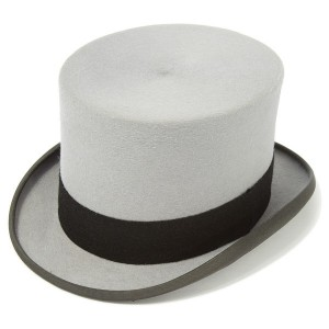 Christys Grey Fur Felt Top Hat