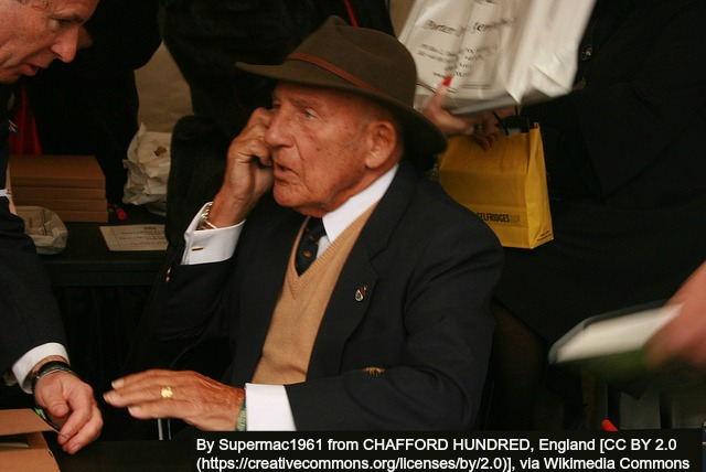 Sir Stirling Moss with Fedora Hat