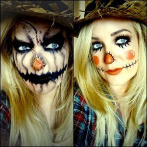 PhillipaBeauty.com Scarecrow Halloween Makeup