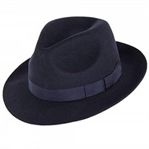 Mens Classic Races Trilby Hat Navy