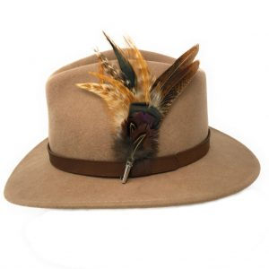 Naunton Fedora Hat with Country Feather Brooch