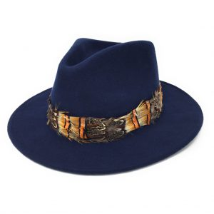 Mickleton Fedora Hat with Feather Wrap