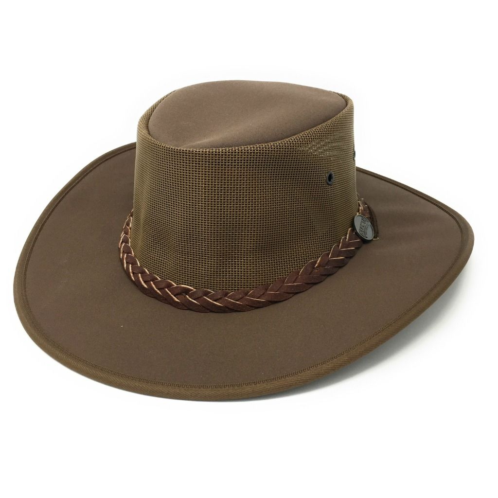 d663fe44789 Barmah Canvas Drover Cooler Hat 1057 - Brown