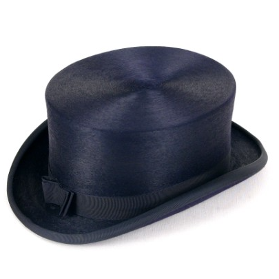 Christys Dressage Fur Felt Top Hat - Navy or Black