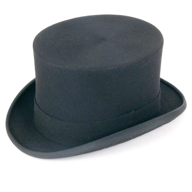 Christys' Fashion Wool Felt Top Hat - Fagin