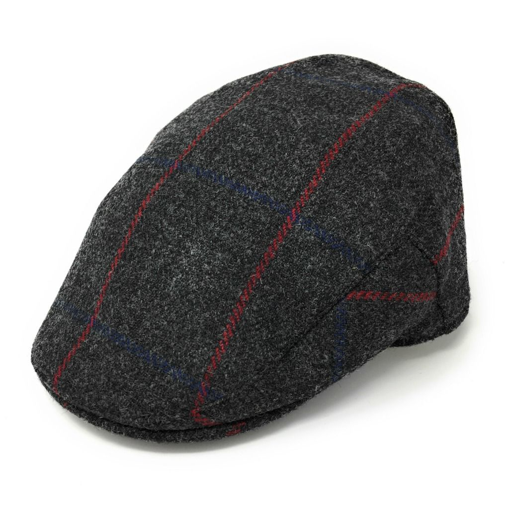 ca5261e1b6b9a Christys Tweed Flat Cap - Balmoral - Charcoal Grey - Small. Reduced to clear