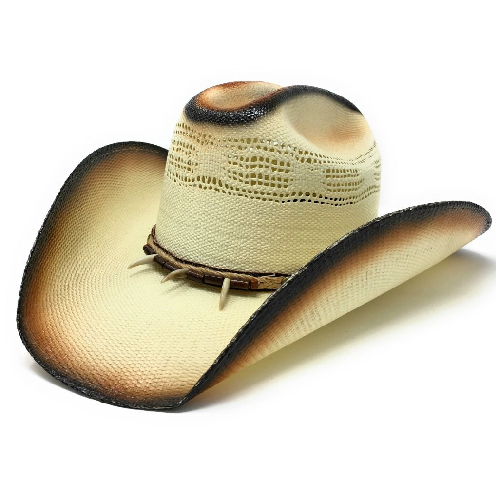 Straw Cowboy Hat - Tan with Brown Beads - Concho - Line Dancing Hat ... 89d201ac89a