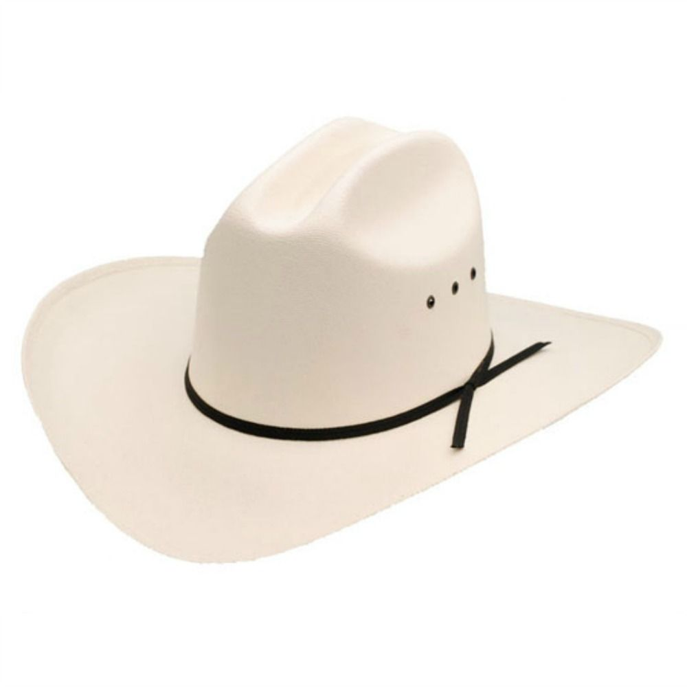 35bb8511 Cream Cowboy Hat - Cattleman Style with black ribbon