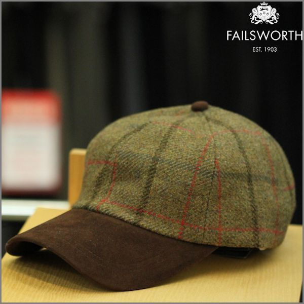 Failsworth Suede Peak Tweed Cap