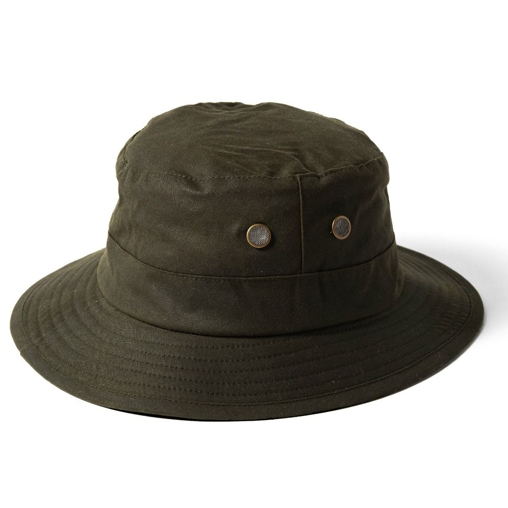 b7eddc1fd39d7 Fishermans Wax Cotton Bucket Hat - Olive Green