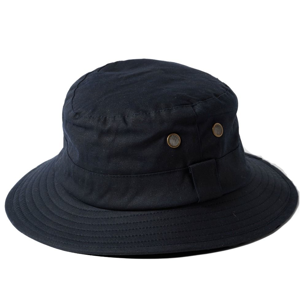 Fishermens Wax Cotton Bucket Hat - Navy bf5ca4e1e40