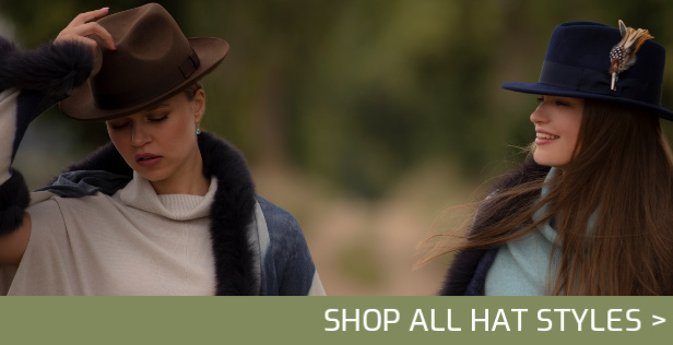 Shop Hats, fedora hats, trilby hats, pork pie hats, panama hats, bowler hats, top hats, homburg hats, bush hats, cowboy hats